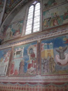 Picture of Fresco in Church of Saint Frances of Assisi, Italy