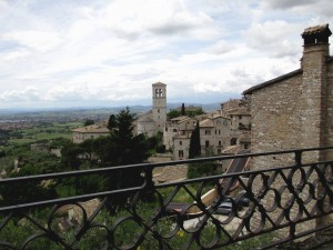 The view off Piazza of St Clare of Assisi