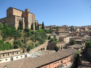 Siena Lodging - view from top of church